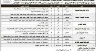 وظائف شاغرة في كلية الأمير سلطان العسكرية للعلوم الصحة بالظهران
