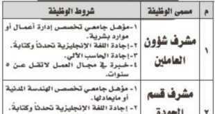 وظائف شاغرة في شركة وطنية في محافظة المجمعة
