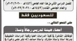 وظائف شاغرة في كليات الشرق العربي بالرياض